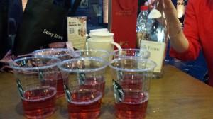 A défaut de pic nic en plein air pour un anniv , nous avons squatté le Starbuck juste à cöté...