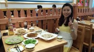 Un des déjeuners avec Natalie