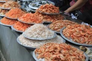 Le marché aux poissons ...séchés